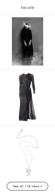 """""""hecate"""" by sashayed ❤ liked on Polyvore featuring pictures, photo, dresses, gowns, edited, runway, proenza schouler, proenza schouler dress, jewelry and necklaces"""
