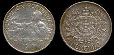 1 Escudo, prata, 1914