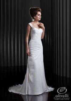 This stunning dress from Enzoani's 2013 Beautiful collection is also available in plus size in our store.