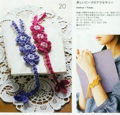 Patrones Crochet: Pulsera Florecillas Crochet