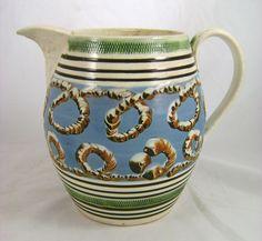 -English Mocha Ware Pottery Worm Jug ca. 1810 from nhantiquecoop on ...
