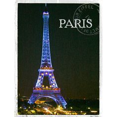 Paris Eiffel Tower Wood Sign