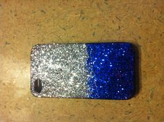 First DIY iPhone case Madison made. Glitter mod podge.
