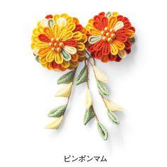 色の重なりで華やぐ カラフルつまみ細工ミニブーケの会 (6回限定コレクション)|フェリシモ