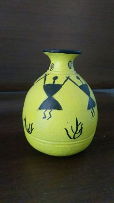 Pot with warli design