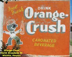 Orange Crush ghost sign, Wichita