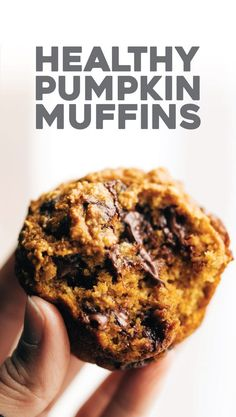 Favorite Pumpkin Muffins Pinch of Yum is part of Pumpkin muffins - These Pumpkin Muffins are THE BEST! Oats instead of flour, maple syrup instead of refined sugar, and everyone loves them! Healthy Muffins, Healthy Dessert Recipes, Healthy Baking, Healthy Desserts, Gourmet Recipes, Healthy Breakfasts, Cupcake Recipes, Vegan Recipes, Best Pumpkin Muffins