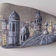 Suleymaniyeden galata kulesi #art #drawing #illustration #rockpainting #artist #mosque #galatatower #istanbul #turkey