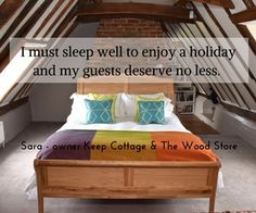 what we do to help our guests get a good nights sleep on holiday holiday cottage to rent Orford Suffolk