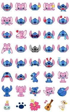 Disney Stitch Washi emoji planner stickers 40 pcs version 1 by JpKrHk on Etsy material: washi paper (easy remove, can write on it) quantity: 40 pcs color: as photos +Many cute and funny items in our store ^_^ Stitch Disney, Lilo Y Stitch, Cute Stitch, Stitch Cartoon, Disney Artwork, Disney Drawings, Cute Drawings, Planner Stickers, Wallpaper Iphone Disney