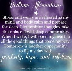 Bedtime #Affirmation...wishing you all a peaceful nights sleep xxoo #goodnight #inspiringthoughts