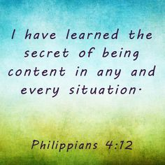 SARAH YOUNG DEVOTIONAL (JESUS CALLING) - I WANT YOU TO LEARN THE SECRET OF being content in any and every situation.