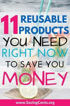 Eco friendly reusable product ideas to save you money #reusableproducts #savingmoney #ecofriendly #savingcents