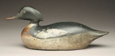A rare red breasted merganser drake by the Mason Decoy Factory fetched $34,500.