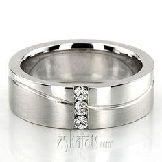 Wave Design Diamond Wedding Ring