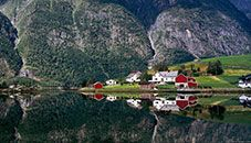 Hyefjorden and Farms (Norway)