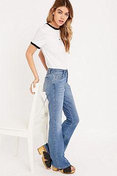 Light Before Dark – Jeans mit Schlag in Blau - Urban Outfitters