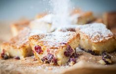 A lovely festive blondie recipe from Adam Byatt, featuring cranberries in honor of the season and edible silver balls to add sparkle to the occasion