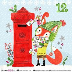 https://flic.kr/p/C2G95e | Hey do you remember #Augustthefox? 12 days to go in the #Christmascountdownwithmiriambos . Like August we've been writing and sending out Christmas greetings this week. I hope they arrive in time :christmas_tree