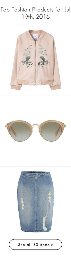 """""""Top Fashion Products for Jul 19th, 2016"""" by polyvore ❤ liked on Polyvore featuring outerwear, accessories, eyewear, sunglasses, glasses, miu miu sunglasses, round frame sunglasses, rose gold sunglasses, miu miu eyewear and miu miu glasses"""