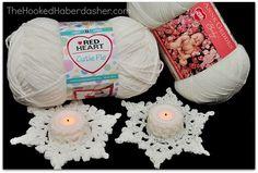 Ravelry: Snowflake Tea Light Cozy pattern by Wendy Bickford Christmas Crochet Patterns, Crochet Snowflakes, Holiday Crochet, Christmas Snowflakes, Christmas Knitting, Crochet Home, Crochet Gifts, Crochet Motif, Knit Patterns