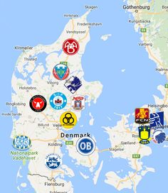 2019 Superliga Denmark Map