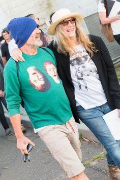 Michael Stipe and Patti Smith