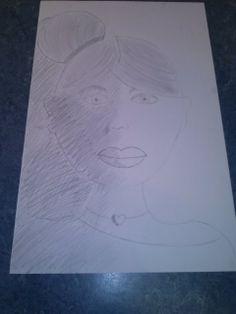 Mijn portret met schaduw... (klad heb ik niet).