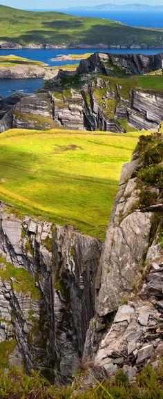 Kerry cliffs with view to Valentia Island, County Kerry, Ireland ~janie•was•here~ trip 2