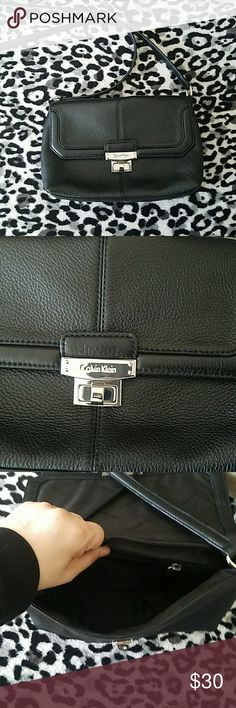 Calvin Klein shoulder bag Color: black leather. Used for a future film. Brand new condition. Calvin Klein Bags Shoulder Bags