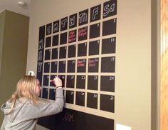 Chalkboard art - Chalkboard Calendar