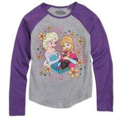 Frozen Elsa Purple Striped long sleeve shirt  Girls Size XL 14-16 Let It Go NEW