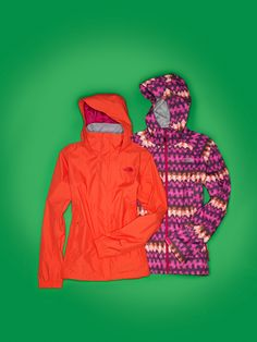WOW factor: Jazzy Jackets. The North Face #rain #coat #fashion BUY NOW!