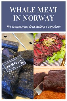 The controversial food is making a comeback. More Norwegians are eating whale meat. Norway hunts minke whales along with Japan and Iceland. Minke Whale, Scandinavian Food, Norway, Meat, How To Make