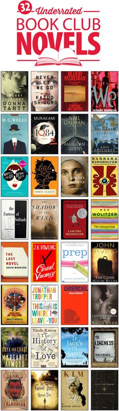 Wondering what your book club should read next? Try one of these: 32 Underrated Novels for Book Clubs -- via the @Half Price Books Blog http://blog.hpb.com