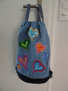 Rucksack mit gestickten Herzen Fashion Backpack, Backpacks, Bags, Handbags, Backpack, Backpacker, Bag, Backpacking, Totes