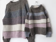 Mini Me - Isabellas fødselsdagssweater - FiftyFabulous Sweater Knitting Patterns, Crochet Cardigan, Knitting Designs, Knit Crochet, Vogue Knitting, Knit Fashion, Mini Me, Outfits For Teens, Cute Casual Outfits