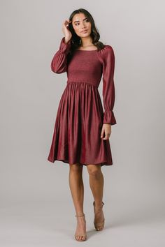Modest Bridesmaid Dresses, Hoco Dresses, Church Dresses, Church Outfits, Dresses To Wear To A Wedding, Modest Dresses, Modest Outfits, Fall Dresses, Simple Dresses
