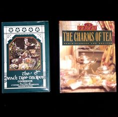 Set of 2 hardcover cookbooks about tea, tearooms, tea parties, and much more. Filled with delicious recipes, anecdotes, illustrations, and photos. Written and published by the owners of the Peach Tree Tea Room in Fredricksburg, Texas, 1990. | eBay!