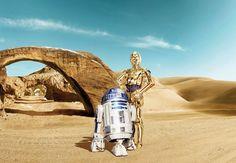 """Бумажные обои, Комар, »Звездные войны Дроиды Lost"""", 368/254 см"""
