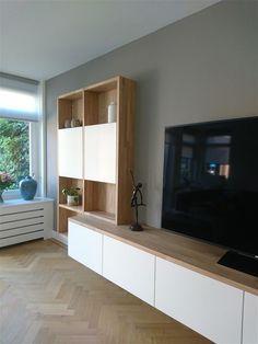 Built In Shelves Living Room, Living Room Wall Units, Ikea Living Room, Living Room Storage, Condo Living, Living Room Ideas Nyc, Living Room Inspiration, Living Room Designs, Rack Tv