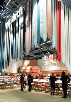ceiling decoration   at stockholm furniture fair
