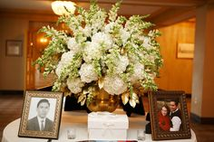 White Hydrangea and snapdragons by Blue Bouquet, via Flickr