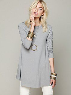Beatnik Tunic- Free People. Love this. Love the unfinished hem on the sleeves and the bottom.