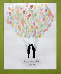 Love this as part of a wedding memory keepsake - everyone's thumbprints