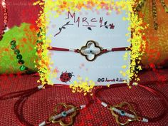 10 pc March bracelet red white Greek tradition gold plated cross tinas creations #TinasCreations #marchbraceletadjustable Metal Bracelets, Red And White, Women Accessories, Greek, Fashion Jewelry, March, Jewels, Traditional, Gold