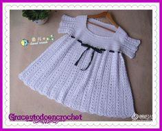 Lovely girl dress... Precioso vestidito de niña!