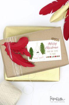 Love these free printable Christmas gift tags