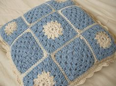 Crochet cushion cover linen by bekaboodesigns on Etsy