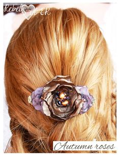 rose with pearls hair accessories floral hair barrette
